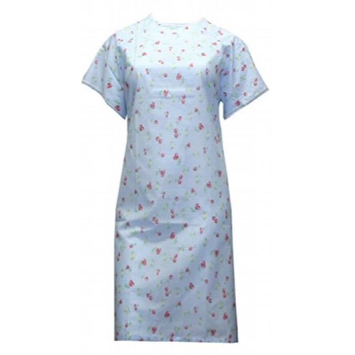 Taille Poly Cerise Bleu Backwrap M Femmes Robe Coton Prints Fieu0 OZTXkiuP