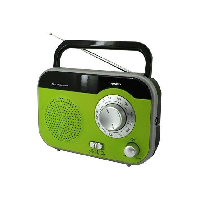 Soudmaster Tr410gr Radio Portable Fm / Am Avec Poignée De Transport