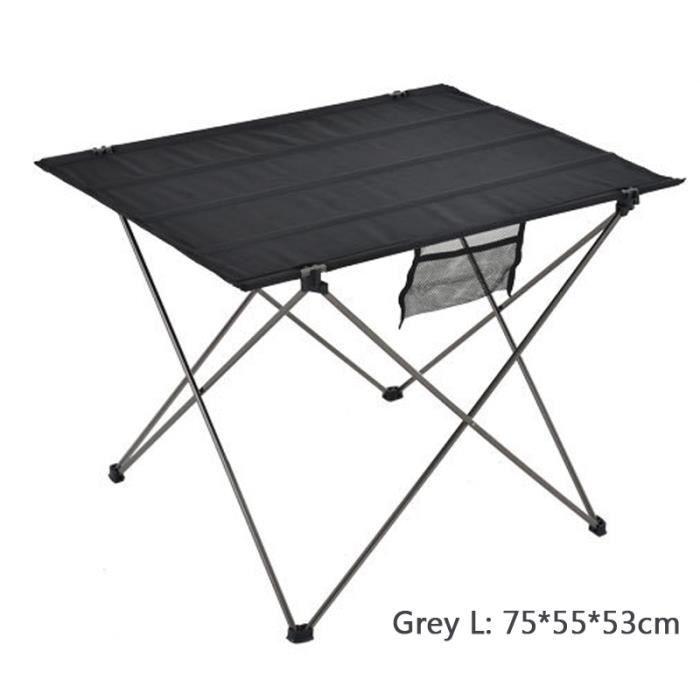 15kg Aluminium Pique Gris Tempsa Table De Exterieur L Pliable Nique Camping Charge Max Portable 80kXnwOP
