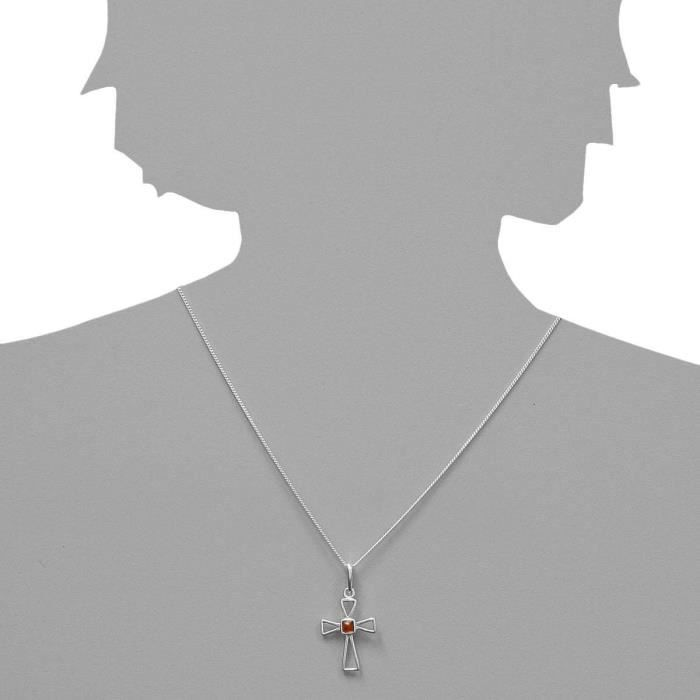 0010200780890 - Collier Femme - Argent 925-1000 - Ambre U5GK9