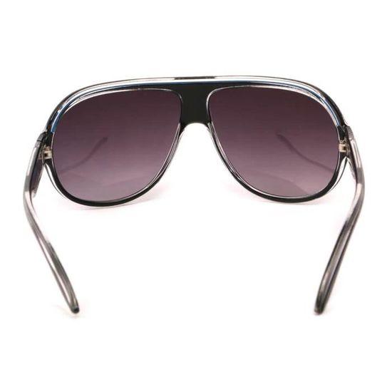 Lunettes Soleil Miles avec monture noire et blanche - Achat   Vente lunettes  de soleil Mixte Adulte - Cdiscount 0f9614b7b74c