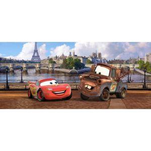 Poster Papier Peint Cars Flash Mcqueen Et Martin A Paris 90 X 202