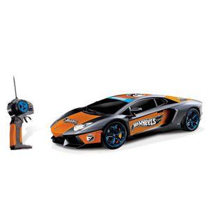 Mondo Motors - HOT WHEELS Voiture télécommandée Lamborghini Aventador 1:14