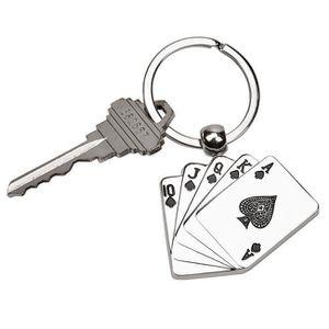 PORTE-CLÉS cgi des femmes Cartes à jouer Porte-clés, Nickelé