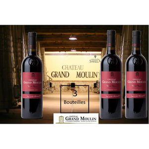 VIN ROUGE 3 Bouteilles - Terres Rouges Vin Rouge 2014 - Vin