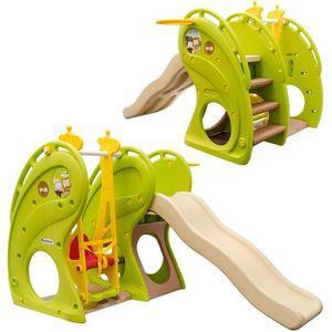 TOBOGGAN Maison de jeux pour enfants avec toboggan et balan