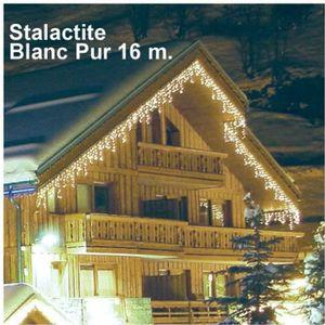 GUIRLANDE D'EXTÉRIEUR Guirlande Stalactite 16 m Blanc Pur