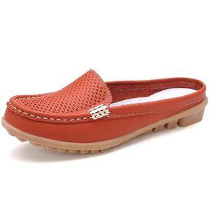 Mocassin Femmes Cuir Occasionnelles Classique Chaussure BWYS-XZ045Rouge38 3mIpm