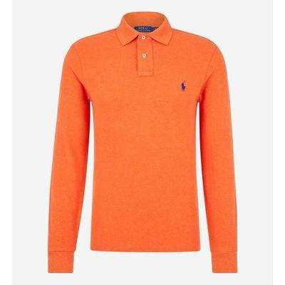 RALPH LAUREN Polo manches longues orange