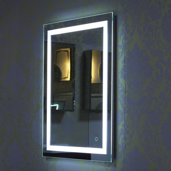 24W Miroir LED Lampe de Miroir Éclairage Salle de Bain - 600x800mm ...