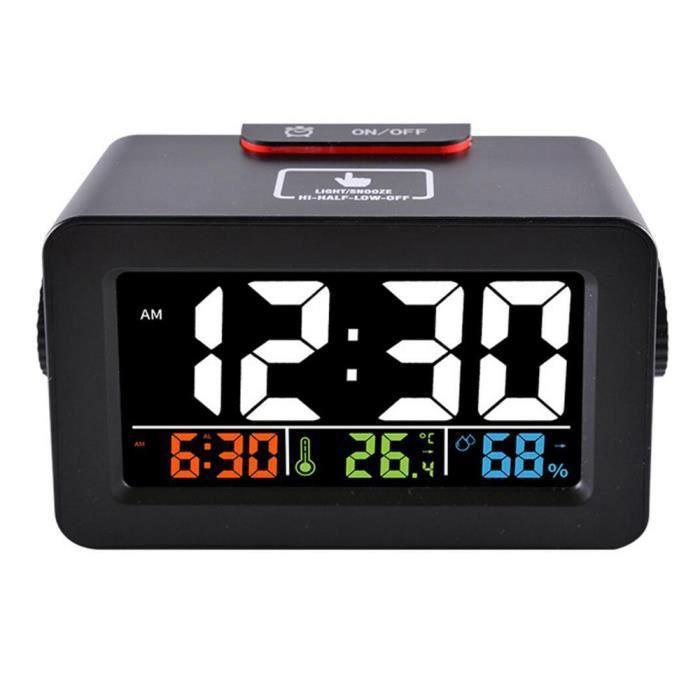 Table Bureau Numérique Réveil Hygromètre Idée Téléphone Thermomètre Température Chargeur Cadeau Humidité Horloge Chevet Avec q4jAL5R3
