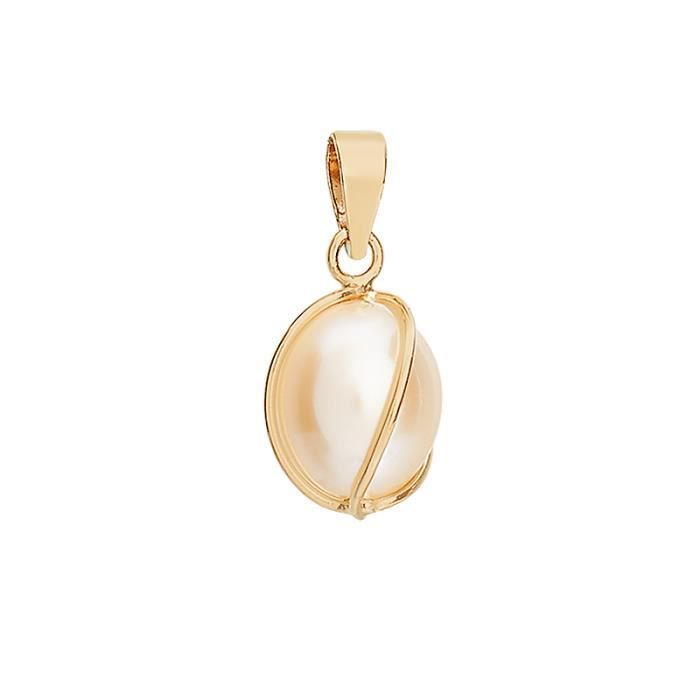 Pendentif CLEOR Or 375/1000 Perle