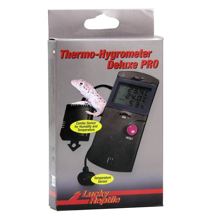 THERMO - HYGROMÈTRE Lucky Reptile Thermo-Hygrometer Deluxe PRO:  Anima