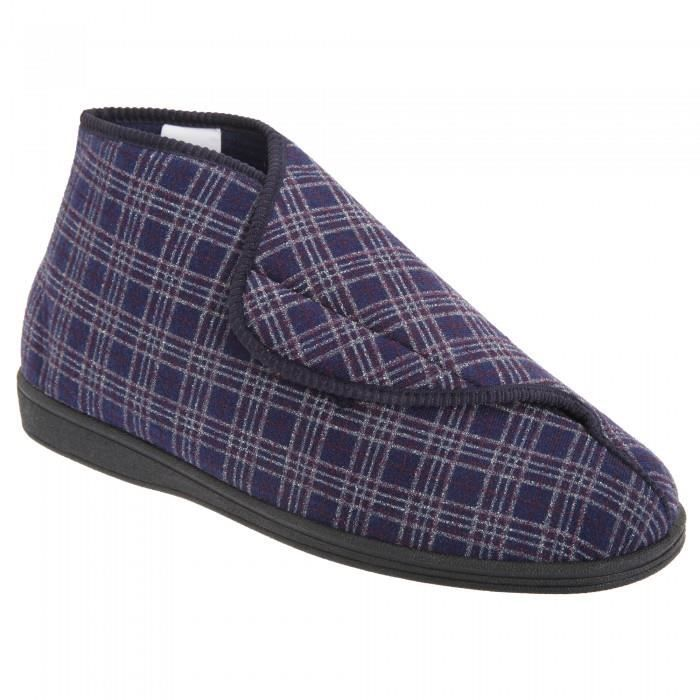 Sleepers Brett II - Chaussons velcro larges - Homme