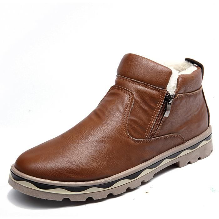 Bottes d'hiver bottes chaud hommes hommes Bottes coton Chaussures en BEqYWH
