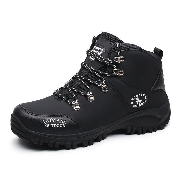 a6210e22286 Randonnée chaussures homme femmes montagne bottes en cuir Escalade ...