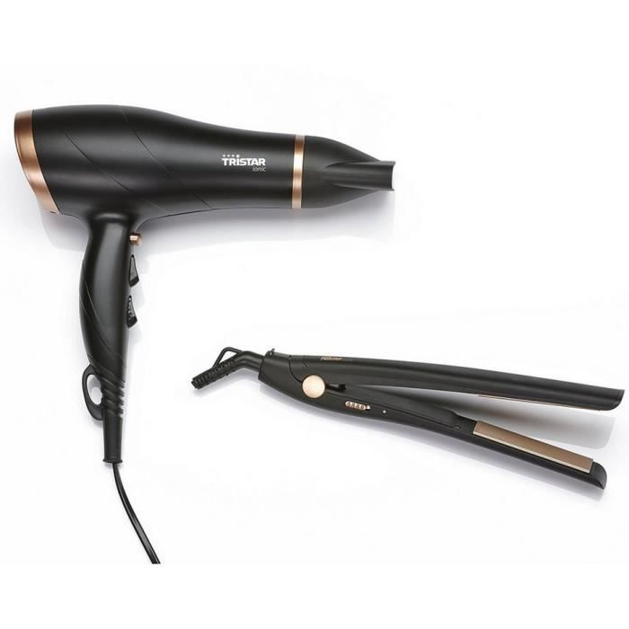 SÈCHE-CHEVEUX Tristar - coffret sèche-cheveux 2200w & lisseur -
