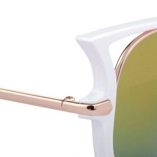 Lunettes de soleil Crazy blanc Blanc - Achat   Vente lunettes de soleil -  Cdiscount 93e233d6f2f7
