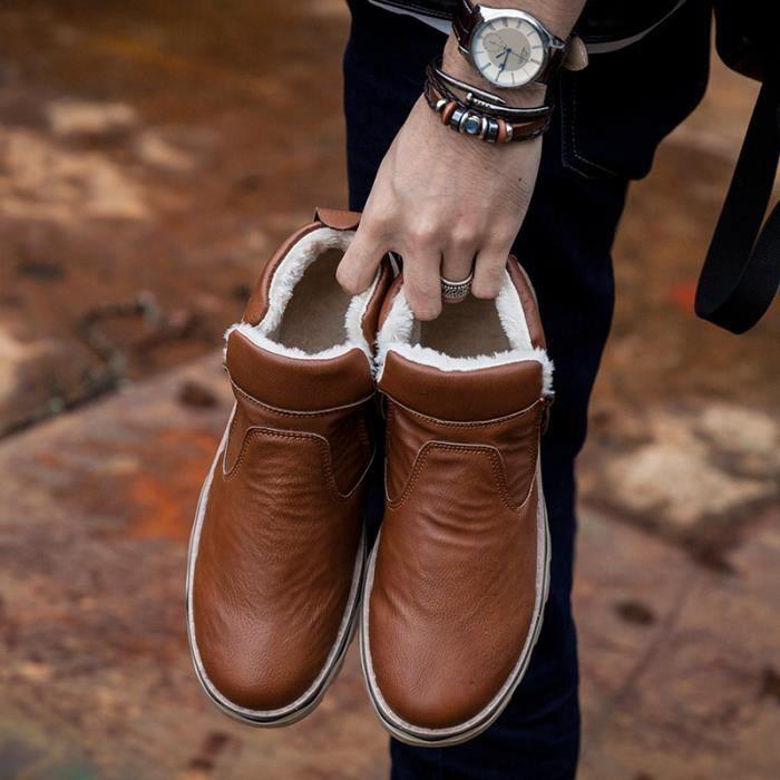 hommes Bottes chaud en hommes Chaussures coton bottes d'hiver Bottes rqwrX1Pt