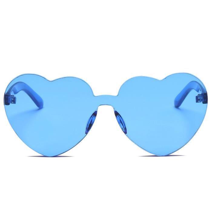 Deuxsuns®Femmes Mode Lunettes de soleil en forme de coeur Lunettes de soleil intégrées UV Candy colorées@zf155
