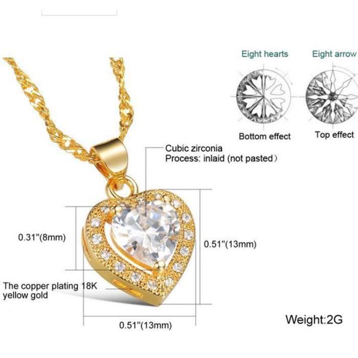 CollierBoucle Alliage de zircon finement lamour pour collier de boucles.