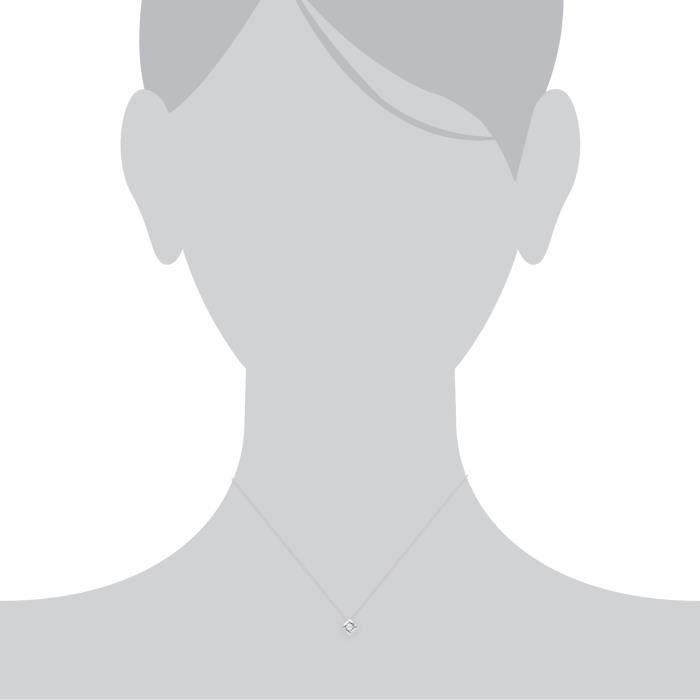 Gemondo Pendentif Solitaire Argent sterling Perle Blanc- 45 mm
