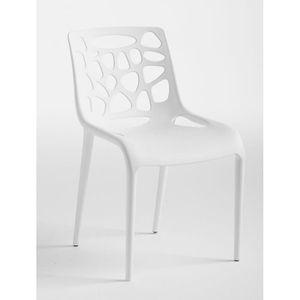 CHAISE Chaise blanche design en polypropylène VAISON 2 (L