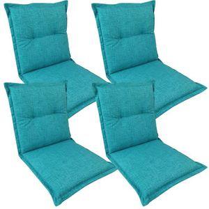 COUSSIN D'EXTÉRIEUR 4x Coussins pour chaises pliantes de jardin 'Comfo