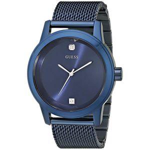 099d9c8cd540 GUESS CREW-man blue Homme 44mm Bracelet Silicone Bleu Quartz Montre ...