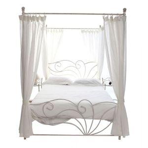 lit baldaquin achat vente lit baldaquin pas cher. Black Bedroom Furniture Sets. Home Design Ideas