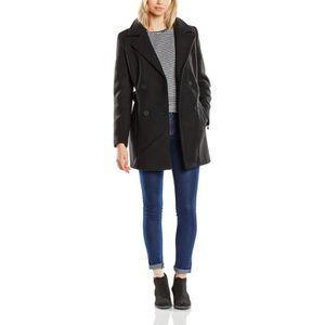 check-out 90196 9d66d Vila Visound Coat - Manteau - Femme K4VDG Noir Noir - Achat ...