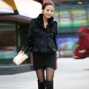 Veste moumoute courte femme