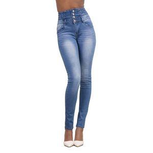 JEANS Pantalons Femme Denim Taille Haute Slim Jeans Skin