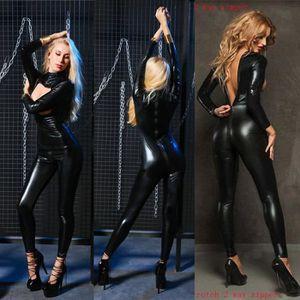 ENSEMBLE DE LINGERIE Sexy Femmes Lingerie Plus La Taille Latex Catsuit