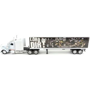 VOITURE - CAMION NEW RAY  Camion KENWORTH Décor Moto Cross - Miniat