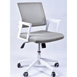 CHAISE DE BUREAU Chaise de bureau grise dossier haut à roulettes en