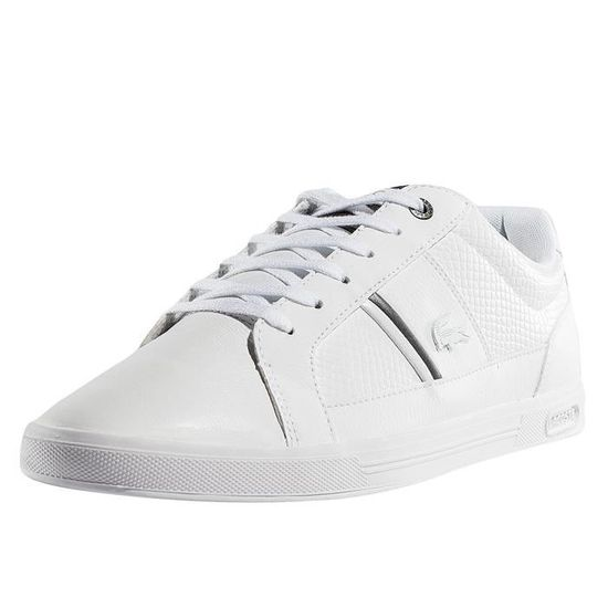 cea43603dc36f Lacoste Homme Chaussures   Baskets Europa 417 SPM Blanc - Achat ...