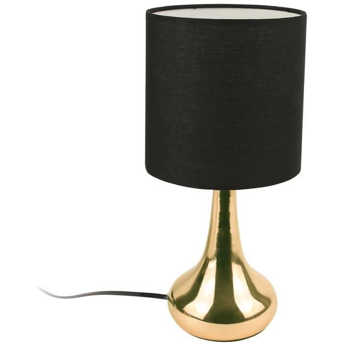 Lampe Tactile - Cuivre et Noir