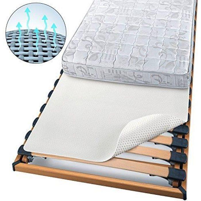 LIT COMPLET BEAUTECT - Protege matelas Blanc - 90x200 cm - Iso