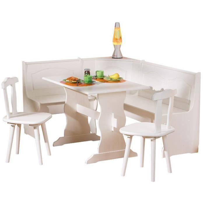 Bon Coin Table A Manger: Coin Repas En Bois Massif Blanc, Dim : 50 X 172 X 87 Cm