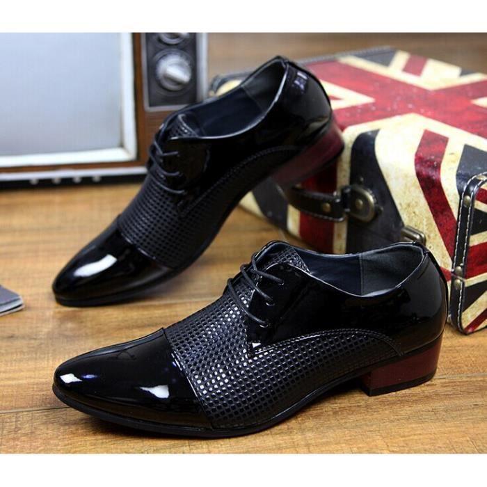 Hommes d'affaires chaussures derby Noir