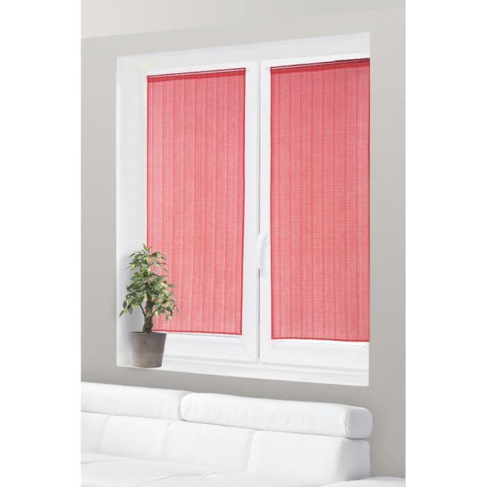 Rideaux vitrage rouge achat vente pas cher Voilage vitrage porte fenetre