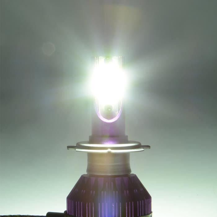 Blanc H7 2pcs Xénon 6000lm Led 6000k Ampoule Hid Voiture 50w Refroidissement Halogène Ventilateur Lampe Intégré De Phare Xcsource OiXTwPZuk