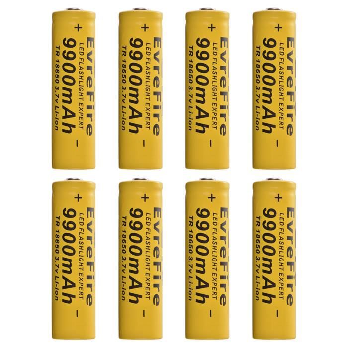 3 Torche Pour 8x 18650 7v Rechargeable Li 9900mah Lampe Ion Batterie droQCExeWB