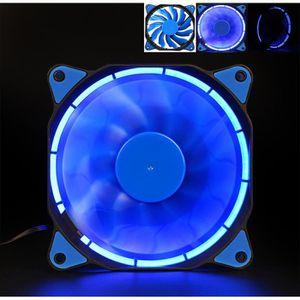 VENTILATEUR Silencieux 120 mm 12V 3 + 4 LED effects clair vent
