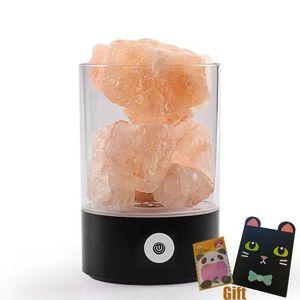 OBJETS LUMINEUX DÉCO  Lampe à poser Lampe en cristal de sel Lampe de tab