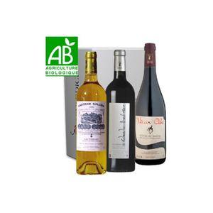 VIN ROUGE Vinaddict - Coffret 100% Bio - 3 Bouteilles 75Cl -
