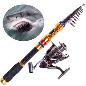 CANNE À PÊCHE 3.6 Mètres télescopique Saltwater Canne à pêche Po