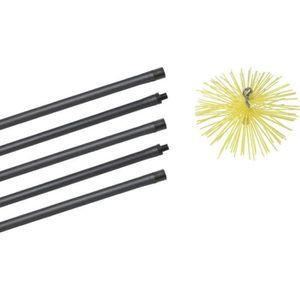 ACCESSOIRES RAMONAGE Kit de ramonage pour cheminée poêle avec 5 cannes