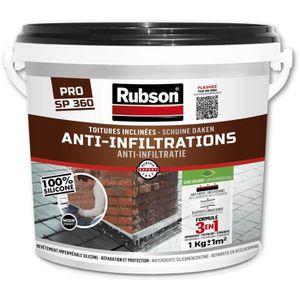 PEINTURE - VERNIS RUBSON Anti-infiltrations Toutes Toitures Noir 1kg